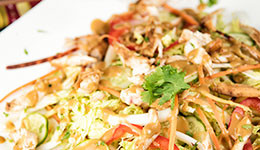 Chicken and Cabbage Salad With Almond Butter Dressing