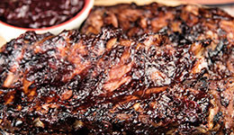 Ribs With Mixed Berry BBQ Sauce