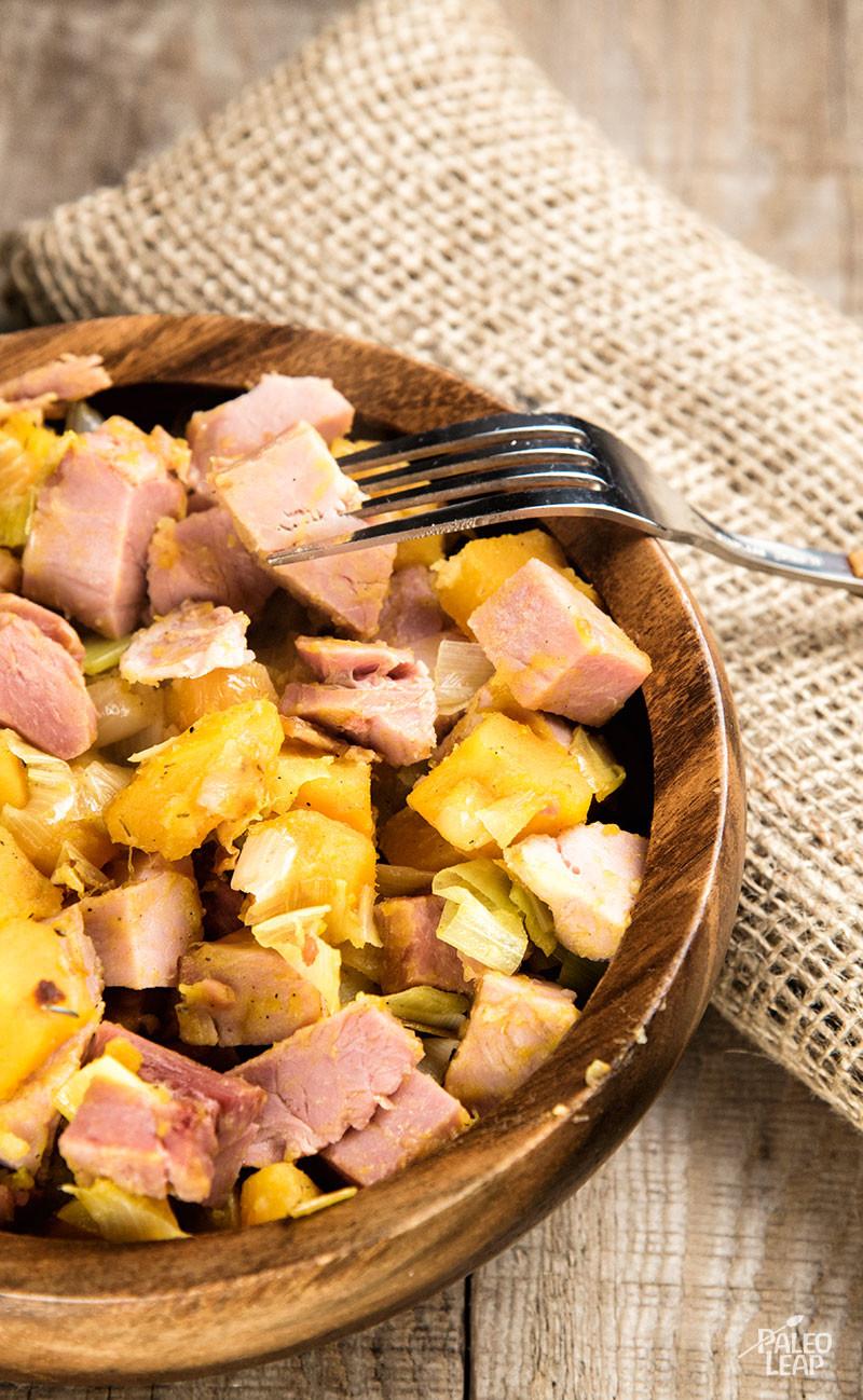 Ham And Butternut Squash Hash