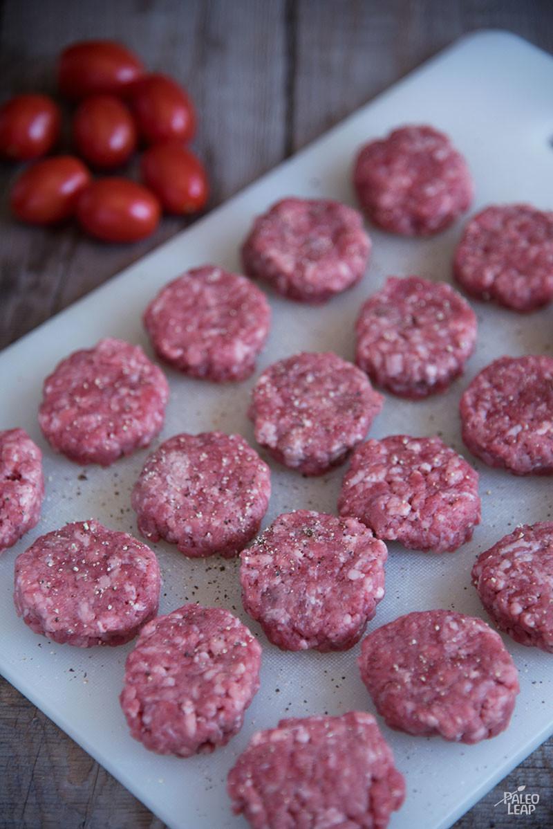 Hamburger Bites preparation