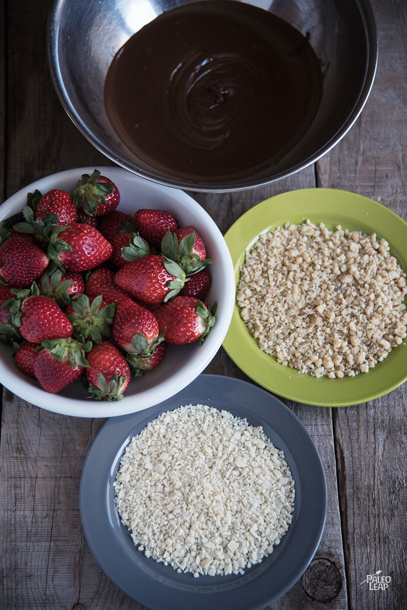 Strawberries preparation