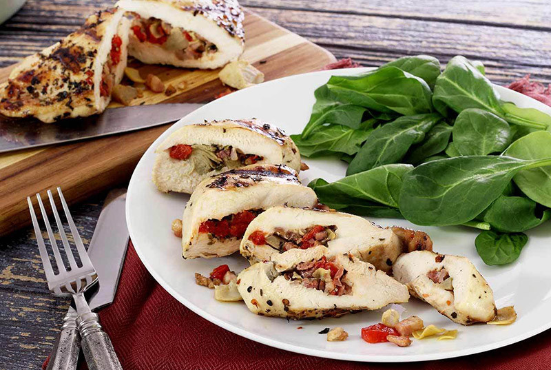 Pancetta-Stuffed Chicken Breasts