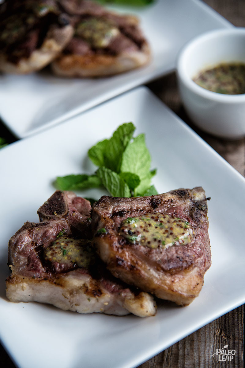 Lamb Chops With Mint And Dijon Sauce