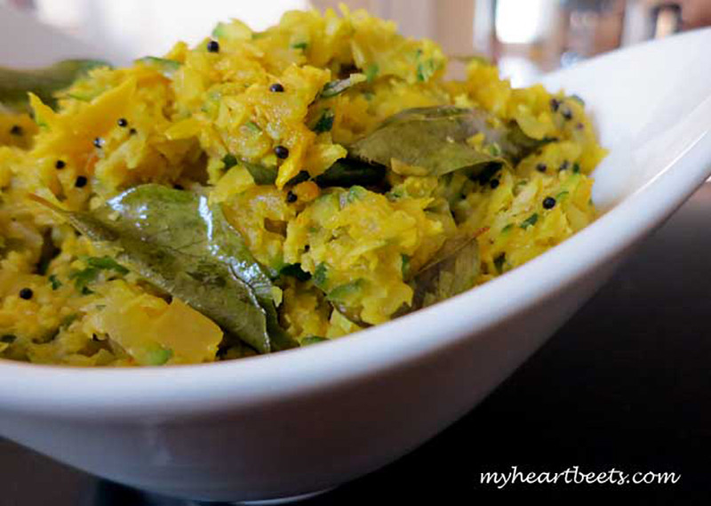 Zucchini Stir-Fry with Curry Leaves