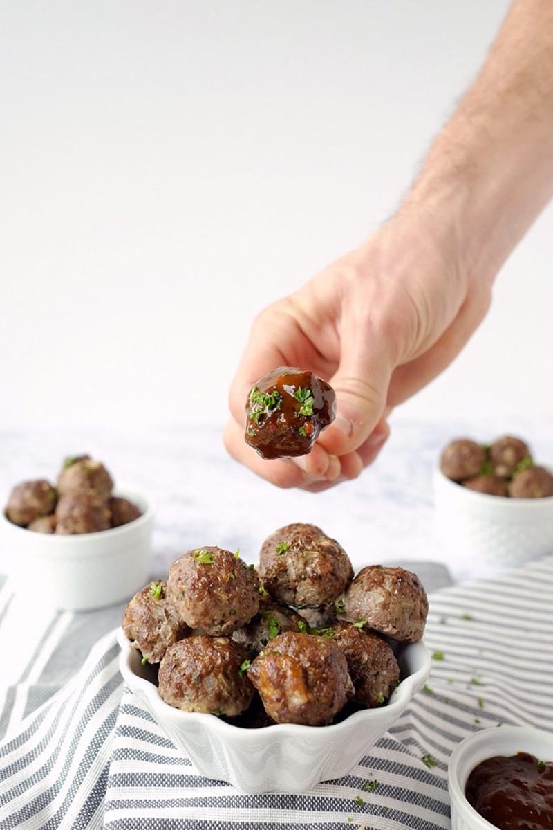 Elk Meatballs with Sweet & Spicy Sauce