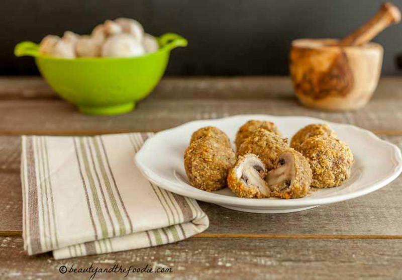 Oven Fried Garlic Mushrooms