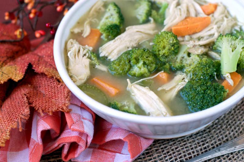 Turkey, Sweet Potato and Broccoli Soup