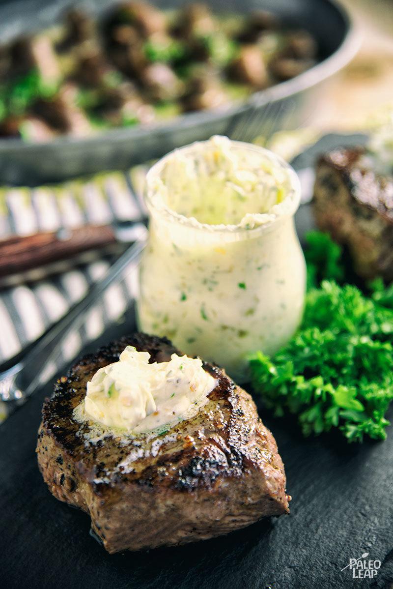 Garlic And Herb Butter Top Sirloin Filet