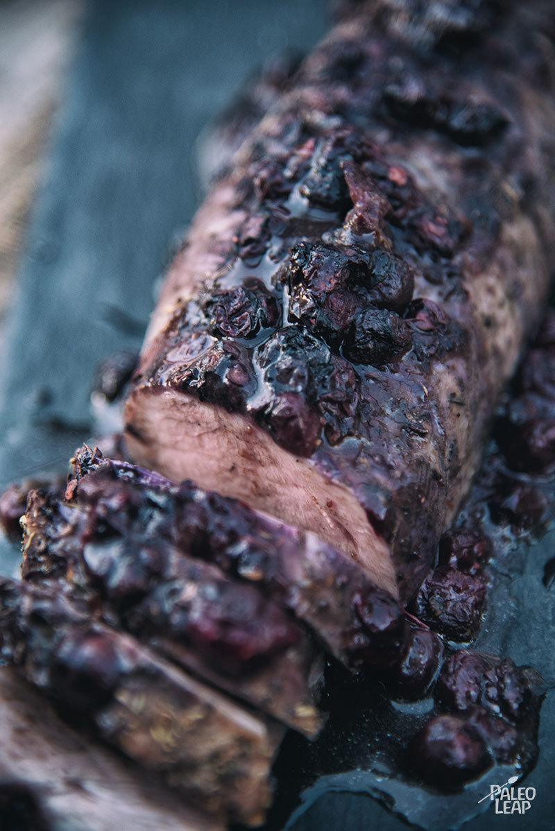 Pork Loin With Blueberry Sauce