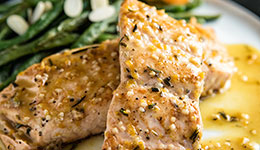 Orange-Rosemary Seared Salmon