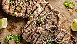 Pork Chops With Lemon-Cilantro Vinaigrette