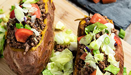 Taco-Stuffed Sweet Potatoes