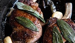 Pork Chops With Garlic Sage Butter