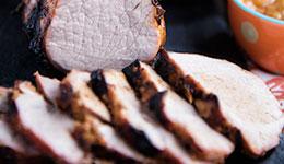 Pork Tenderloin With BBQ Peach Sauce