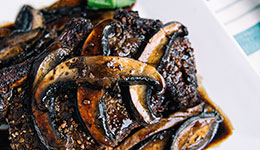Roast Beef with Portobello and Balsamic Sauce