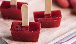 Bite-Sized Raspberry Popsicles