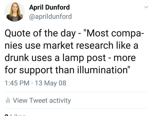 April Dunford nails it on market research