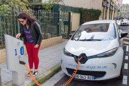 Electric cars woman