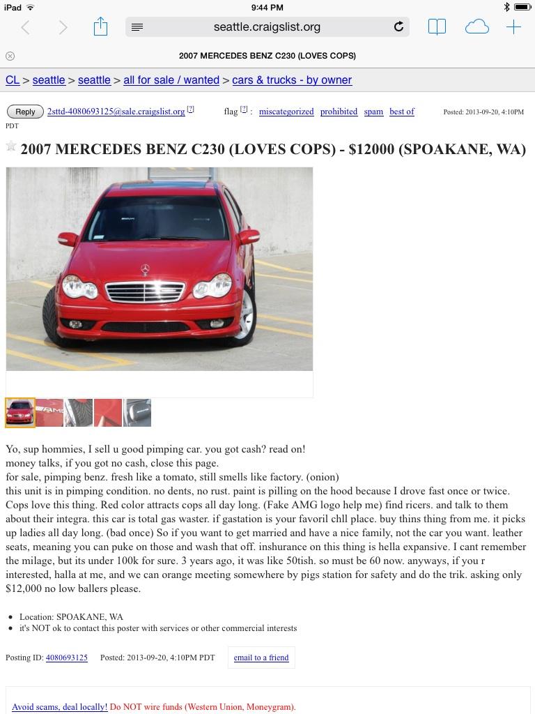 CL C-Class Ad