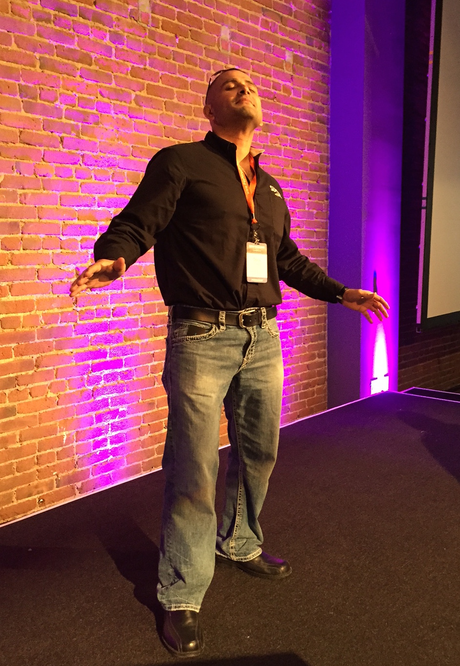 Taking it In On Stage at WooConf