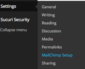 Perezbox - MailChimp Settings Configuration