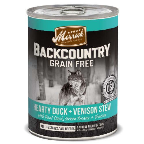 Merrick - Backcountry Hearty Duck & Venison Stew Grain-Free Canned Dog Food, 12.7oz