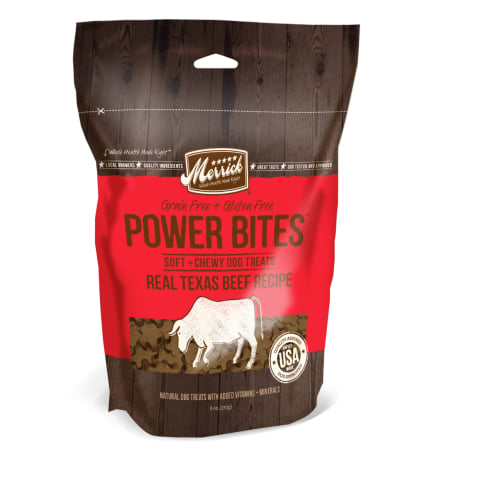 Merrick - Power Bites Real Beef Recipe Soft & Chewy Grain-Free Dog Treat, 6oz
