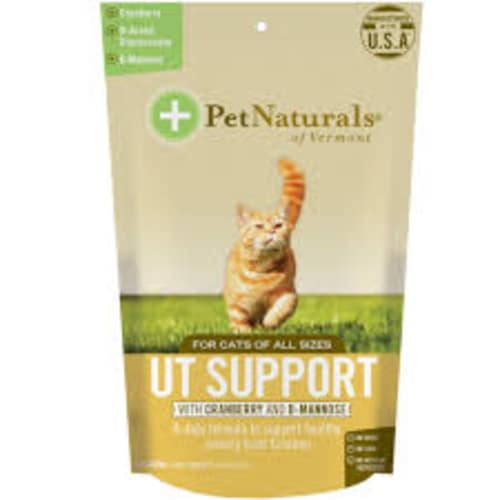 Pet Naturals - UT Support With Cranberry & D-Mannose 60 Count For All Cat Sizes Pet Supplement, 2.65oz