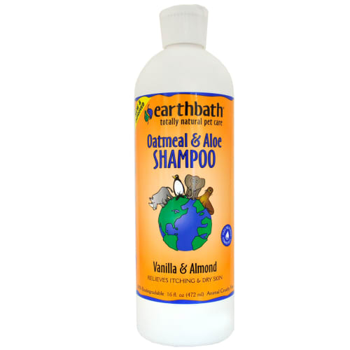 Earthbath - 100% Biodegradable Oatmeal & Aloe Vanilla & Almond Dry Skin & Itch Relief Pet Shampoo, 16oz