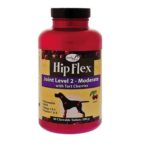 Overby Farms - Hip Flex Joint Level 2 Dog Supplement, 60 Chewable Tablets