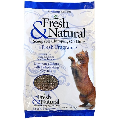Fresh & Natural - Scoopable Clumping Cat Litter (Fresh Fragrance), 40lbs