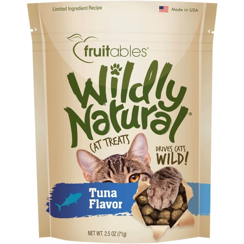 Fruitables - Wildly Natural Wild Caught Tuna Cat Treats, 2.5oz