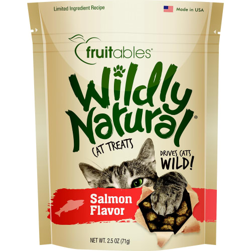 Fruitables - Wildly Natural Wild Caught Salmon Cat Treats, 2.5oz