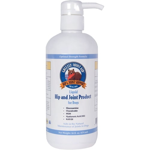 Grizzly Pet Products - Hip & Joint Liquid Dog Food Supplement