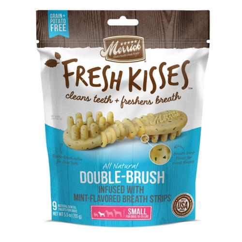 Merrick - Fresh Kisses Double-Brush Mint Flavored Dental Chews