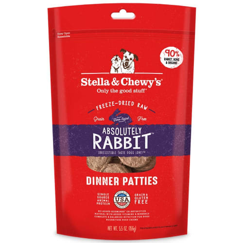 Stella & Chewy's - Absolutely Rabbit Dinner Patties Grain-Free Freeze Dried Dog Food