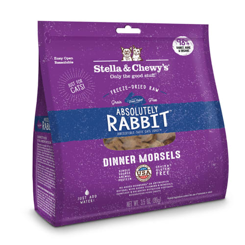 Stella & Chewy's - Absolutely Rabbit Dinner Morsels Grain-Free Freeze Dried Cat Food
