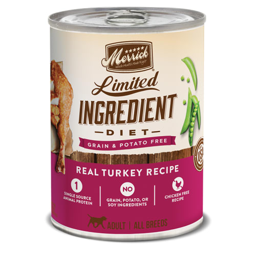 Merrick - Limited Ingredient Diet Real Turkey Recipe Grain-Free Canned Dog Food, 12.7oz