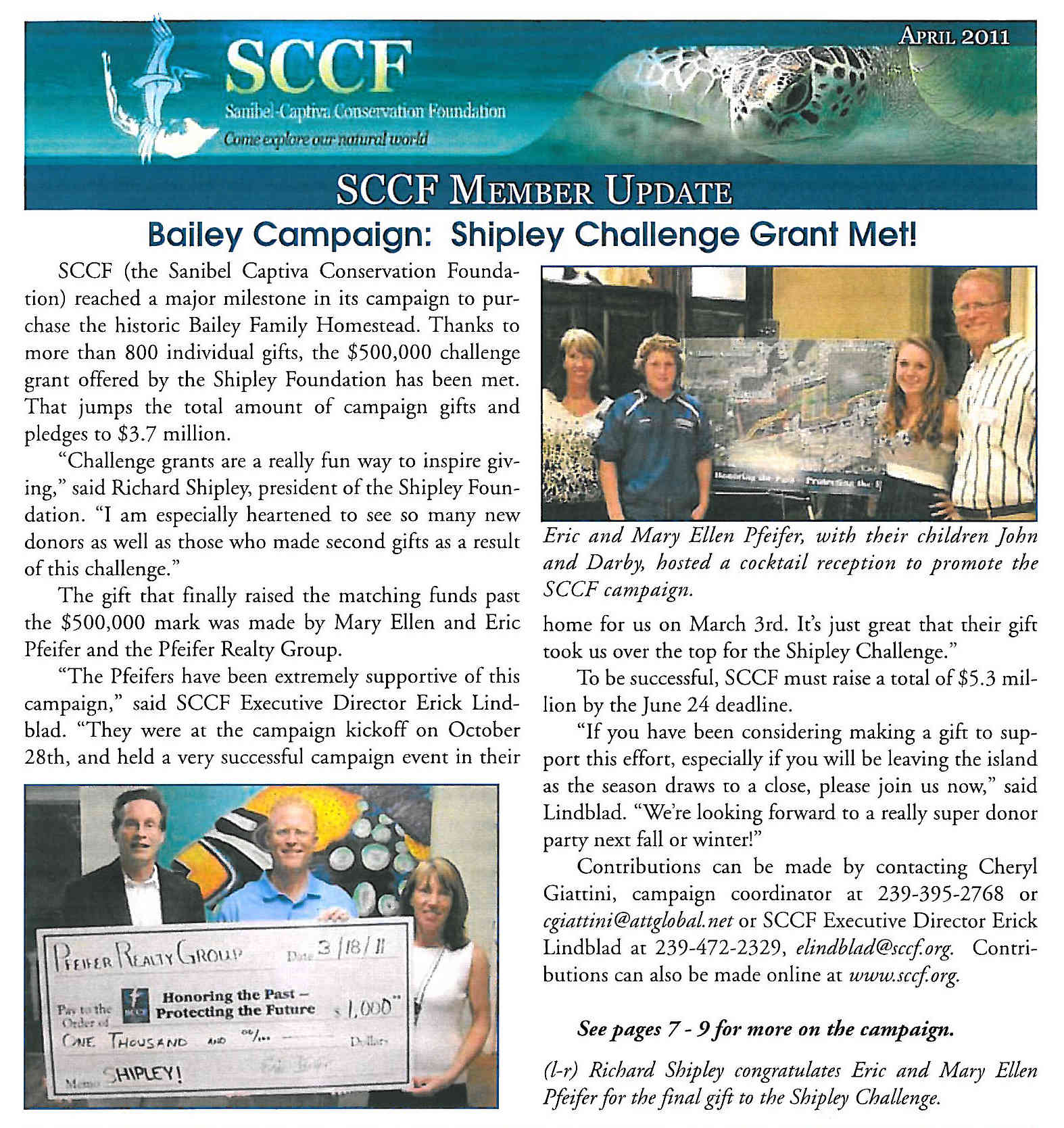 SCCF's Bailey Homestead Campaign