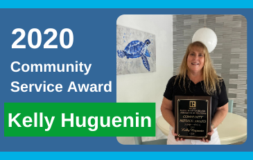 Kelly Huguenin Earns Community Service Award