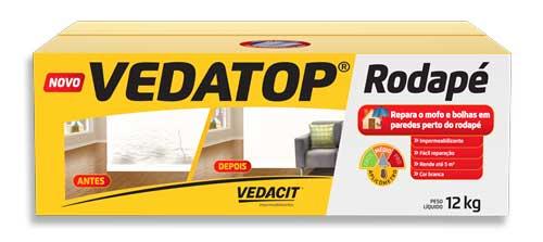 Vedatop Rodapé elimina manchas de mofo e umidade