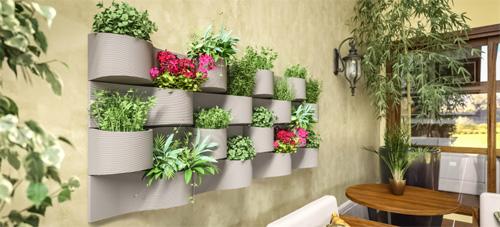 Vaso Japi para composição de jardim vertical