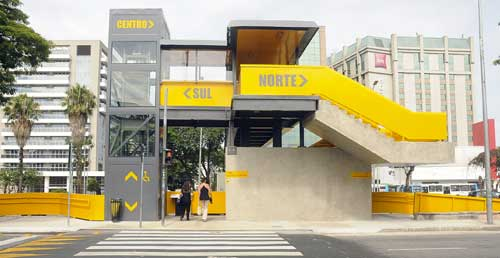 Mobilidade na nova passarela de Congonhas