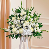 White Sympathy Standing Baskets