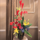 Red Ginger Sympathy Arrangement