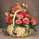 Feelings of Fall Basket Arrangement