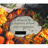 Garden Accent Stone Personalized - In Memory...with leash & collar