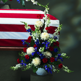Military Honors Casket Spray