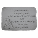 Garden Accent Stone - 'Your memory is...'