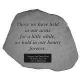 Garden Accent Stone Personalized - 'Those we have held'